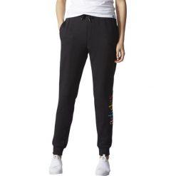 Bryczesy damskie: Adidas Spodnie damskie Regular Cuffed Trackpant czarne r. S (AY6612)