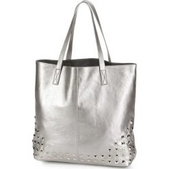 Shopper bag damskie: Torba shopper z ćwiekami bonprix srebrny kolor