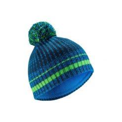 Czapka narciarska RIB. Niebieskie czapki damskie marki WED'ZE, w kolorowe wzory, z elastanu. Za 29,99 zł.