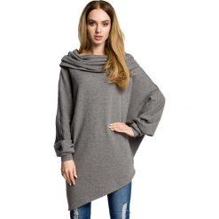 ZARA Asymetryczna bluza z szerokim kołnierzem - szara. Szare bluzy damskie Moe, z dzianiny, z krótkim rękawem, krótkie. Za 179,90 zł.