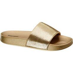Chodaki damskie: klapki damskie Graceland złote