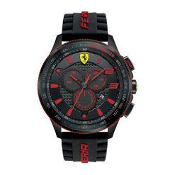 """Zegarek """"0830138-SCUDERIA-XX"""" w kolorze czarnym. Czarne, analogowe zegarki męskie Lacoste, sztuczne. W wyprzedaży za 1247,95 zł."""