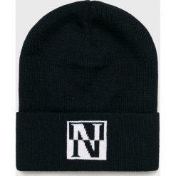 Napapijri - Czapka. Szare czapki zimowe męskie marki Napapijri, z dzianiny. W wyprzedaży za 99,90 zł.