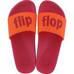 """Klapki damskie: Klapki """"flip*flop"""" w kolorze różowo-pomarańczowym"""