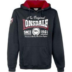 Lonsdale London Wells Bluza z kapturem czarny. Czarne bluzy męskie rozpinane marki Lonsdale London, m, z aplikacjami, z kapturem. Za 199,90 zł.