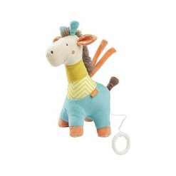 Maskotka z pozytywką Żyrafa 23 cm. Szare przytulanki i maskotki Baby Fehn. Za 69,42 zł.