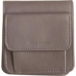 Portfele damskie: Skórzany portfel w kolorze antracytowym - 9 x 11 x 3 cm