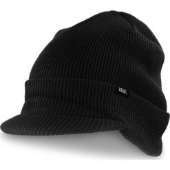 Czapka VANS - Visor Cuff VN0A3HJ8BLK  Black. Czarne czapki męskie marki Vans, z materiału. Za 99,00 zł.