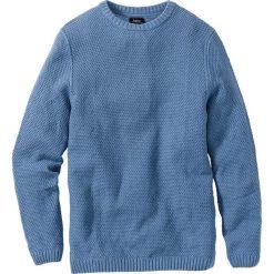 Swetry męskie: Sweter Regular Fit bonprix niebieski dżins