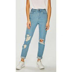 Noisy May - Jeansy Donna. Niebieskie jeansy damskie relaxed fit marki Noisy May, z podwyższonym stanem. Za 169,90 zł.