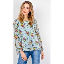 Koszule body: Miętowa koszula w kwiaty i motylki