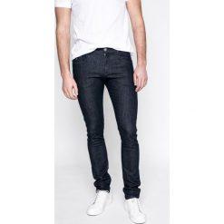 Trussardi Jeans - Jeansy 370. Niebieskie jeansy męskie slim marki Trussardi Jeans, z bawełny. W wyprzedaży za 299,90 zł.