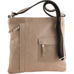 Torebki klasyczne damskie: Skórzana torebka w kolorze beżowym – 28 x 28 x 3 cm