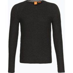 Swetry klasyczne męskie: BOSS Casual – Sweter męski – Arkus, szary
