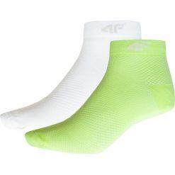 Skarpetki damskie: Skarpetki damskie SOD204 – zieleń neon+biały