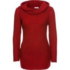 """Swetry klasyczne damskie: Sweter z dekoltem """"carmen"""" bonprix czerwony"""