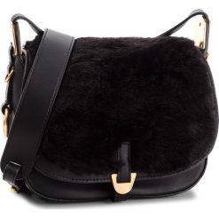Torebka COCCINELLE - CFA Espiegle Fur E1 CFA 15 03 01 Noir 001. Czarne listonoszki damskie Coccinelle, z materiału, bez dodatków. Za 1649,90 zł.