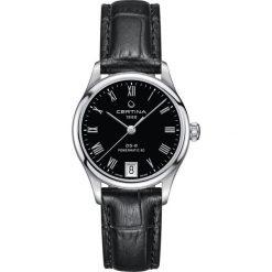 PROMOCJA ZEGAREK CERTINA DS 8 C033.207.16.053.00. Czarne zegarki damskie CERTINA, pozłacane. W wyprzedaży za 2235,20 zł.
