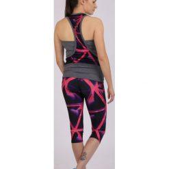 Spodnie sportowe damskie: Spokey Leginsy damskie Triani 3/4 fitness czarno-różowe r. L (839474)