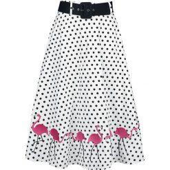 Spódnice wieczorowe: Collectif Clothing Fancy Flamingo Swing Skirt Spódnica biały