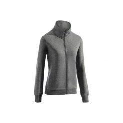 Bluza na zamek Gym & Pilates damska. Szare bluzy rozpinane damskie marki DOMYOS, xl, z bawełny. Za 64,99 zł.