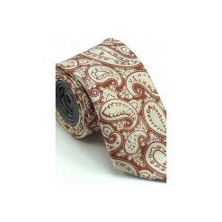 IT-023 Krawat jedwabny MILANO. Czerwone krawaty męskie Luma milanówek, z bawełny. Za 200,00 zł.