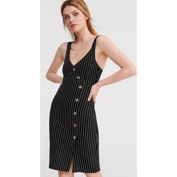 d69820726bd283 Sukienka w prążki - Czarny - Czarne sukienki damskie Reserved, s ...