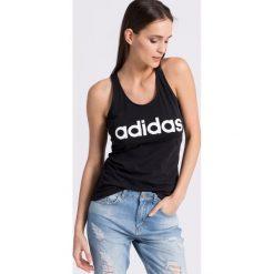 Adidas Performance - Top. Szare topy sportowe damskie marki adidas Performance, l, z nadrukiem, z bawełny, z okrągłym kołnierzem. Za 79,90 zł.