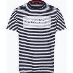 Calvin Klein - T-shirt męski – Jaksat, niebieski. Pomarańczowe t-shirty męskie marki Calvin Klein, l, z bawełny, z okrągłym kołnierzem. Za 279,95 zł.