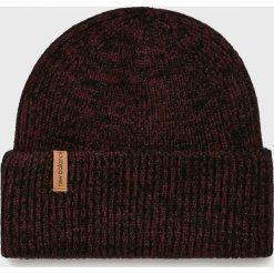 New Balance - Czapka. Brązowe czapki zimowe męskie marki New Balance, na zimę, z dzianiny. Za 89,90 zł.