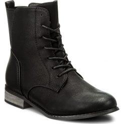 Botki JENNY FAIRY - WS1250-5 Czarny. Czarne buty zimowe damskie marki Jenny Fairy, z materiału, na obcasie. Za 119,99 zł.