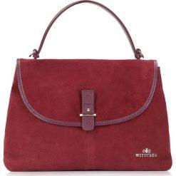 Torebka damska 87-4E-214-2. Czerwone torebki klasyczne damskie marki Wittchen, w paski, z zamszu, zamszowe. Za 545,00 zł.