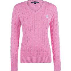 Swetry oversize damskie: Sweter w kolorze jasnoróżowym
