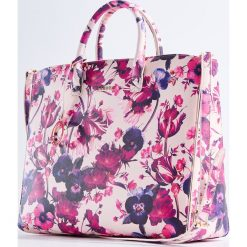 Torebki i plecaki damskie: Duża torebka z odpinanym paskiem – Wielobarwn