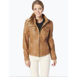 Cabrini - Damska kurtka skórzana, beżowy. Brązowe kurtki damskie Cabrini, ze skóry. Za 849,95 zł.