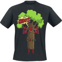 Deadpool I Am Groot T-Shirt czarny. Czarne t-shirty męskie z nadrukiem Deadpool, xxl, z okrągłym kołnierzem. Za 74,90 zł.