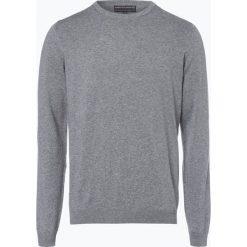 Finshley & Harding - Sweter męski, szary. Czarne swetry klasyczne męskie marki Finshley & Harding, w kratkę. Za 129,95 zł.