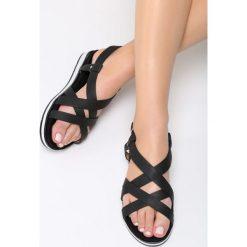 Czarne Sandały Pheasant. Czarne sandały damskie marki Born2be, z materiału, na obcasie. Za 79,99 zł.