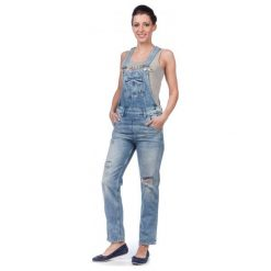 Pepe Jeans Kombinezon Damski Nomad Xs Niebieski. Niebieskie jeansy damskie marki Pepe Jeans. W wyprzedaży za 309,00 zł.