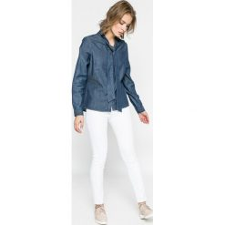 Vero Moda - Koszula. Szare koszule jeansowe damskie Vero Moda, l, casualowe, z długim rękawem. W wyprzedaży za 59,90 zł.