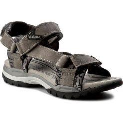 Sandały GEOX - J Borealis B. E J720RE 02215 C1006 D Szary. Szare sandały męskie skórzane marki Geox. W wyprzedaży za 199,00 zł.