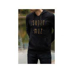 Super mąż męska czarna bluza z kapturem. Czarne bluzy męskie rozpinane One mug a day, l, z bawełny, z kapturem. Za 179,00 zł.
