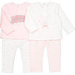 Komplet 2 piżam 2 częściowych z weluru 0 m-cy -3 latka. Czerwone bielizna dziewczęca marki La Redoute Collections, z aplikacjami, z bawełny. Za 88,16 zł.
