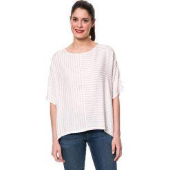 Koszulka w kolorze kremowo-jasnoróżowym. Białe bluzki damskie Mavi, xs, w paski, z okrągłym kołnierzem. W wyprzedaży za 85,95 zł.