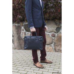 Torby na ramię męskie: Skórzana męska torba w rękę i na ramię