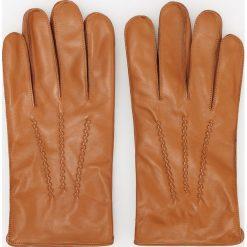 Rękawiczki skórzane - Brązowy. Brązowe rękawiczki męskie Reserved. Za 119,99 zł.