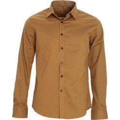 Camelowa Koszula Inaccessible. Czarne koszule męskie marki Born2be, l, z aplikacjami, z dresówki. Za 79,99 zł.