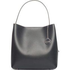 Torebki klasyczne damskie: Skórzana torebka w kolorze czarnym – 27 x 24 x 12 cm