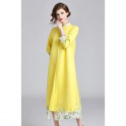 Płaszcz w kolorze żółtym. Żółte płaszcze damskie marki Zeraco. W wyprzedaży za 379,95 zł.