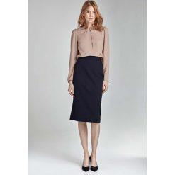 Spódniczki: Granatowa Ołówkowa Elegancka Spódnica